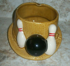 VINTAGE MID-20th CENTURY LEFTON EXCLUSIVES BOWLING HAT ASHTRAY - #H-6681 - JAPAN