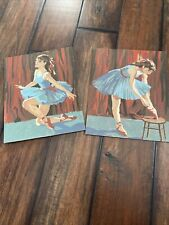 """Vintage Paint By Numbers Ballerina Set Of 2 8x10"""" 1960's"""