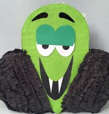 "Vampire Green & Black Halloween PiÑAta 8.5"" H X 11"" L X 2.5"" W"
