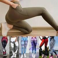 Women Yoga Pants Scrunch High Waist Sports Gym Leggings Running Fitness Workout