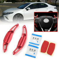 Red Steering Wheel Shift Paddle Shifter Extension For TOYOTA CAMRY 2018 -2020 19