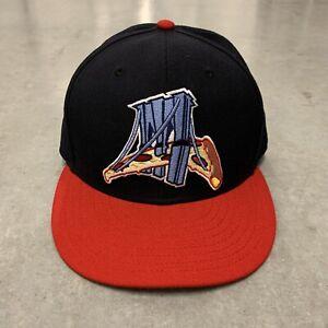 RARE Brooklyn Cyclones Slices Food Night New Era Cap Hat Men's Size 7 5/8 MiLB
