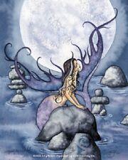 Amy Brown Sticker Decal Mermaid Moon Secrets purple blue ocean rocks fantasy art