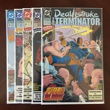 DEATHSTROKE THE TERMINATOR #22 23 24 25 26 (DC, 1993) High Quality lot of 5!