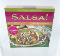 MusicCooks Salsa Recipes Box Set with Music CD and DVD - New Sealed, Gift Idea!
