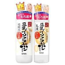 ( Set of 2 ) Japan Sana Nameraka Isoflavone Soy Milk Facial Face Lotion & Toner