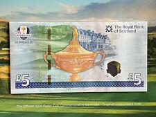 2014 RYDER CUP LTD EDITION £5 NOTE IN COMPLETE PRESENTATION FOLDER UK POSTPAID