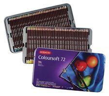 Derwent Coloursoft 72 Colouring Pencils Set Tin Case NEW Colorsoft