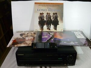 PIONEER CLD-D504 CD/CDV/LASERDISC PLAYER - WITH 4 LASERDISCS AND REMOTE