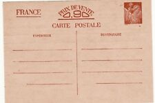 Z105 Carte Postale ENTIER POSTAL Non écrite  prix de vente 0,90 timbre IRIS