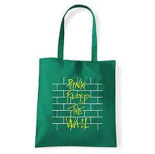 Art T-shirt, Borsa  Pink Floyd The Wall, Verde, Shopper, Mare