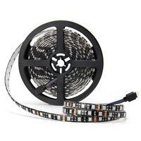 RGB Waterproof 5M 5050 SMD 300 LED 60leds/m Strip Light 12V Black PCB