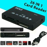 All in-One Memory Card Reader USB External SD SDHC Mini Micro M2 MMC XD CF W4L5