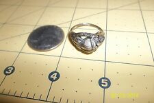 SCANDINAVIAN STYLE MODERN MODERNIST STERLING SILVER NATURAL PEARL  RING 8 .25 *