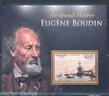 CENTRAL AFRICA 2012 EUGENE BOUDIN  SOUVENIR SHEET MINT NH