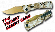 S.O.G. SOG Trident Folder Desert Camo Serrated TF-5 NEW