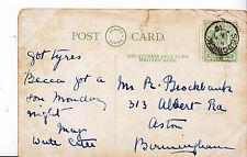 Genealogy Postcard - Family History - Brockbank - Aston - Birmingham   A1013
