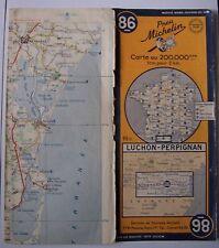#) carte MICHELIN 86 LUCHON - PERPIGNAN 1952