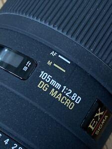 Sigma 105 mm EX DG f/2.8 Macro Objektiv für Nikon F - sehr guter Zustand!