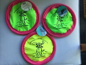 "Three (3) 10"" Soft Flying Discs from PET TRENDS, NEW w/ TAGS and FREE SHIPPING!"