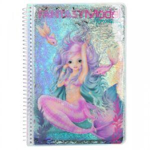 Fantasy Model Malbuch Stickerbuch MERMAID Meerjungfrau TOPModel Depesche 10472