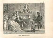 1794 Camille Desmoulins et sa femme Lucile  Révolution française GRAVURE 1883