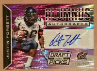 Justin Forsett 2015 Prizm Draft Picks Purple Prizm Alumnus Autograph Card 7/30