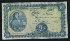 10 Pounds Irish Ireland Series A Lavery Banknote 10.2.75