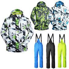 Ski Snowsuit Snowboard Jacket Coat Pants Overalls Waterproof Winter Outdoor Men