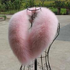 Women&Men Real Genuine Fox Fur Collar Scarf/Shawl/Wrap Neck Warmer 80cm