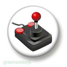 Retro Video Game Joystick 1 Inch / 25mm Pin Button Badge Joypad Computer Arcade