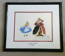 """Disney's Alice In Wonderland """"Curtsey To The Queen"""" Framed Sericel LE5000 Signed"""