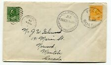Canada / New Zealand 1928 SHIP Mail RMS Makura - Marine Post Office Cover -