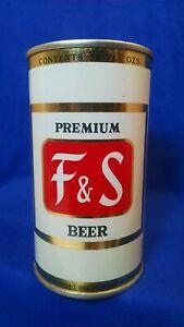 F&S PREMIUM BEER ~ 12 FL OZS FLAT TOP CAN ~ SHAMOKIN PA ~ STUNNING