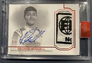 2020 Topps Dynasty Formula 1 GEORGE RUSSELL Patch Auto Awesome Patch #/5!