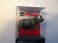 Preiser (Ho 1:87) Indian Rhinoceros (Head Up) #29501