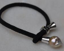 SWZ UNIKAT Barockperle Armband Edsion Perle Silber 925 Armreif Armkette modern