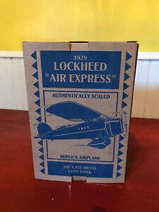 ERTL 1:32 Scale A-Treat 1929 Lockheed Air Express Die Cast Airplane Bank MIB!!