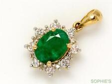 Natural Emerald Yellow Gold Fine Necklaces & Pendants