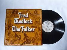 FRED WEDLOCK ~ THE FOLKER ~ VTS 7 ~ 1971 UK COMEDY FOLK VINYL LP ~ PLAYS WELL