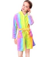 Unicorn Bathrobe for Girls Sleepwear Soft Hooded Robe