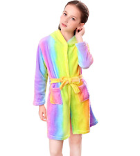 Unicorn Bathrobe for Girls Sleepwear Soft Hooded Robe