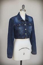 DOLLHOUSE Flap Pockets Side Adjusters Crop Denim Jacket