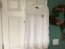 Men's THE HUNDREDS MCMLXXX HUGE Long Sleeve White T-Shirt XL  (CON6)