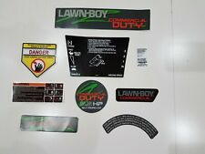 Reproduction 98-04 lawn-boy 9pc decal set for the 22261 commercial model mower.