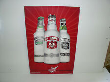 Smirnoff ICE 16x24 Large Red Metal Bar Sign 2006 new old stk embossed