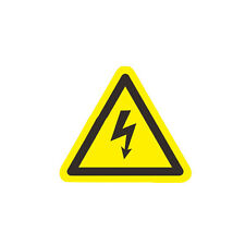 5pc Danger High Voltage Electric Warning Safety Label Sign Decal Sticker 1""