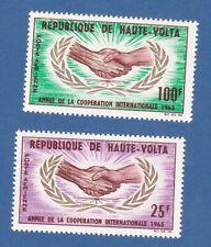 Alto Volta 1965 airmail posta aerea onu united nation nazioni unite MNH**og