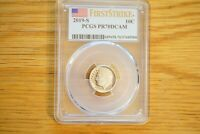 2019-S 10C Roosevelt Dime PCGS PR70DCAM First Strike PROOF 70 DEEP CAMEO
