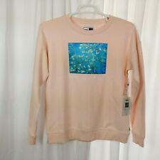 VANS X Vincent Van Gogh Almond Blossom Crew Sweater Fleece Sweatshirt Size Large